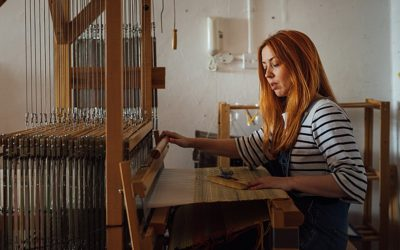 Weaving her magic | Whelans Weaving | London commercial photographer